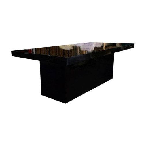 Black GLOSSY DINNING TABLE