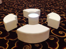 Load image into Gallery viewer, LED Lighted ROUND TABLE - coffee table / end table   (Changing Colors)