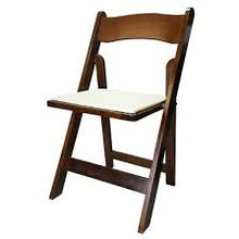 Load image into Gallery viewer, FRUITWOOD  WOOD PADDED CHAIR