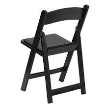 Load image into Gallery viewer, BLACK WOOD PADDED CHAIR