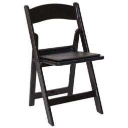 BLACK RESIN PADDED CHAIR