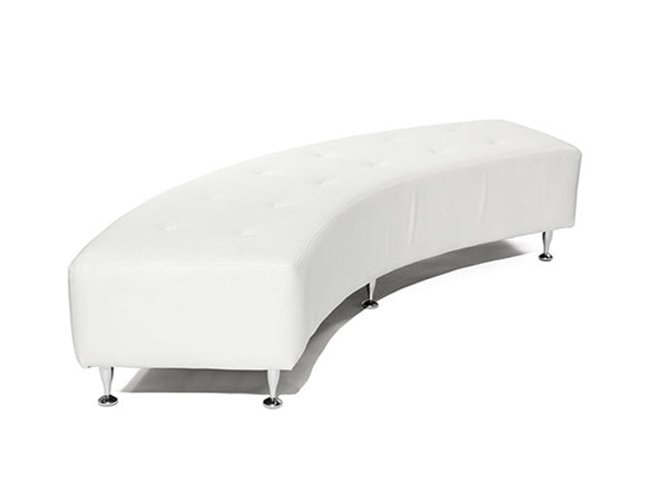"Curved Bench  W9' x D24"" x H17"""