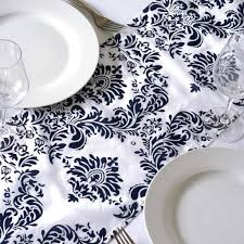 RUNNER  Taffeta Damask Flocking
