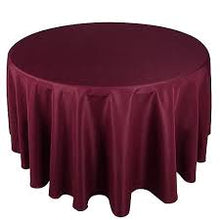 Load image into Gallery viewer, Round Tablecloth - SATIN 120""