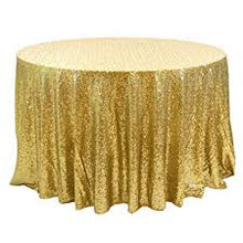 Load image into Gallery viewer, Round Tablecloth - SEQUINS
