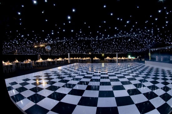 Dance Floor 20'x20' Checkered Black/White