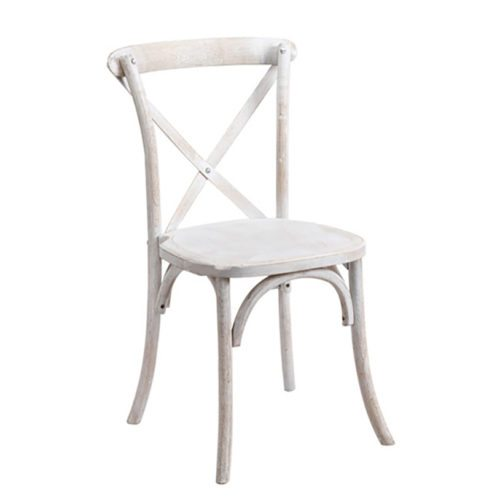 White Distressed Rustic Chair