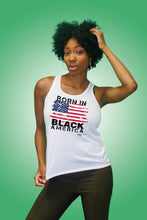 "Load image into Gallery viewer, Born in Black America <span class=""kws"">Racer</span> Tank Top"