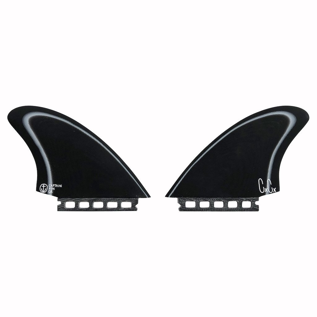 Captain Fin Co. Christenson Keel Especial Single Tab Black/White Surfboard Fins Captain Fin Co.