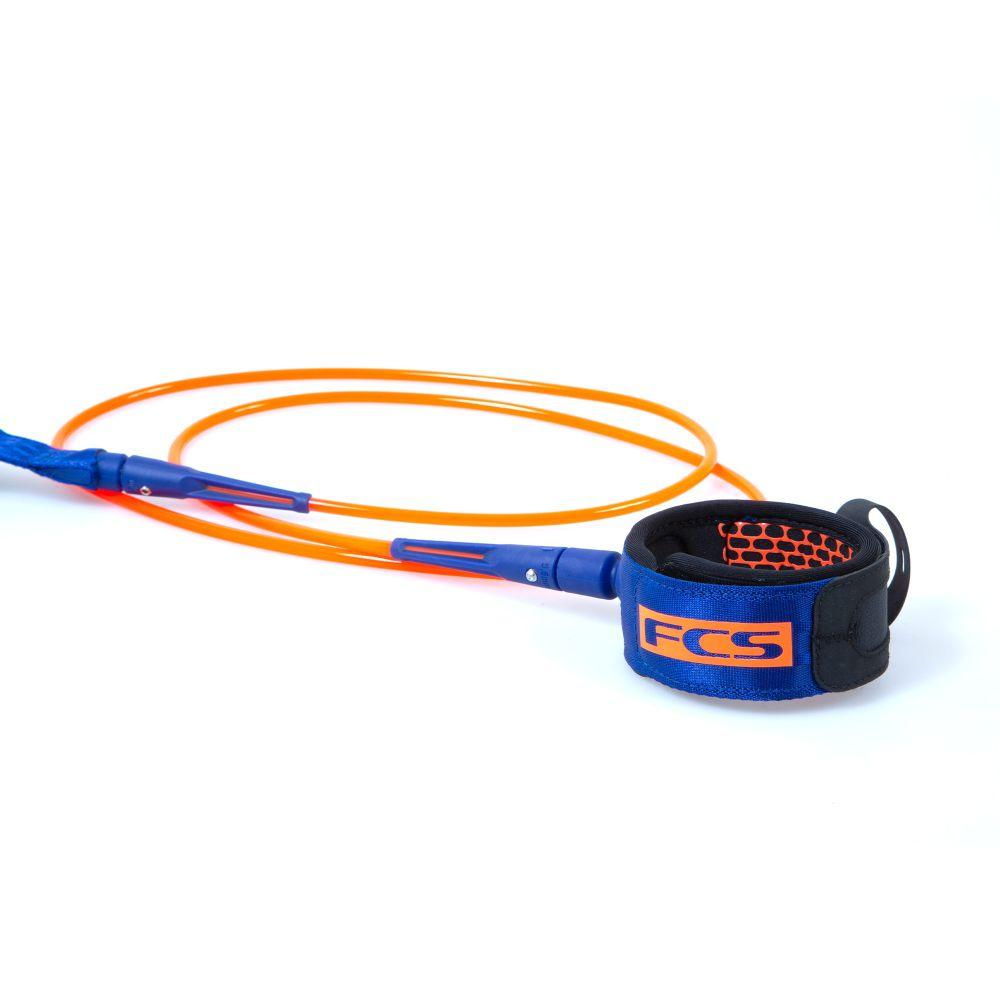 FCS 6' All Round Essential Leash Legropes & Leashes FCS Blood Orange/Navy