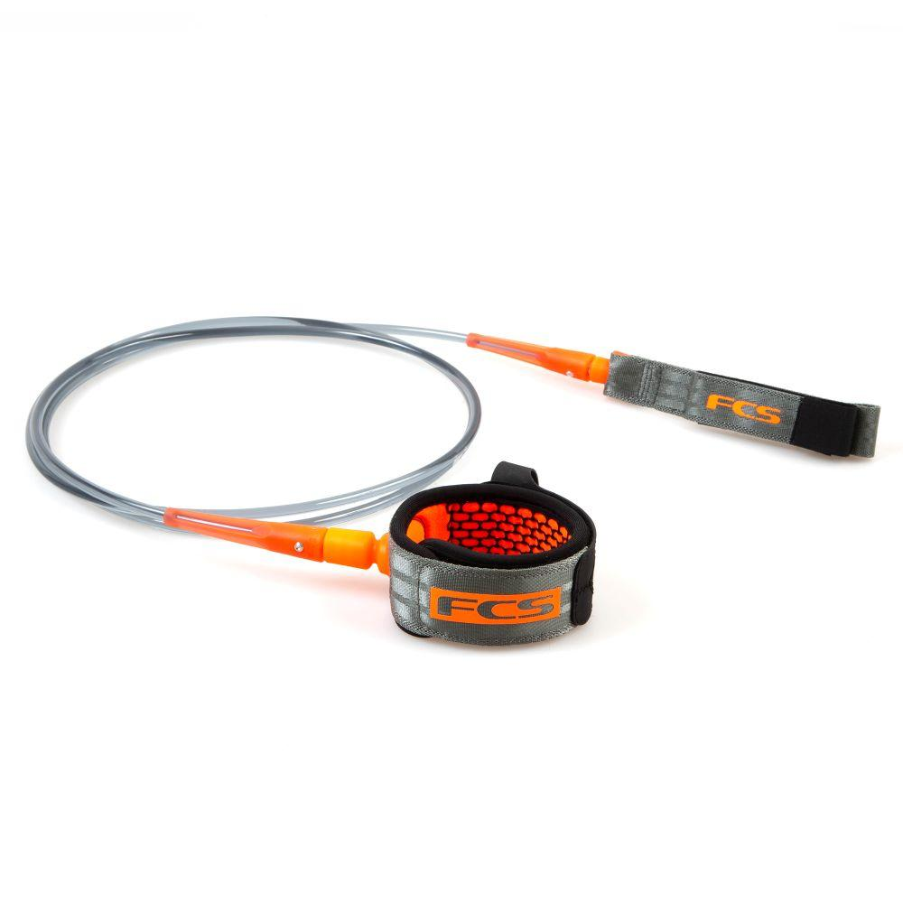 FCS 6' All Round Essential Leash Legropes & Leashes FCS Charcoal/Blood Orange