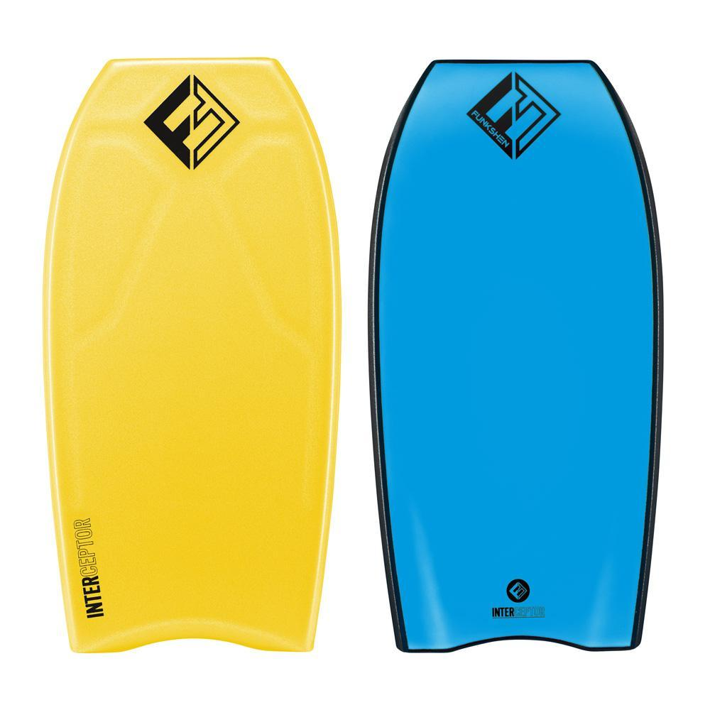 Funkshen Interceptor PE Cres Bodyboards & Accessories Funkshen 43 Yellow Deck / Blue Bottom