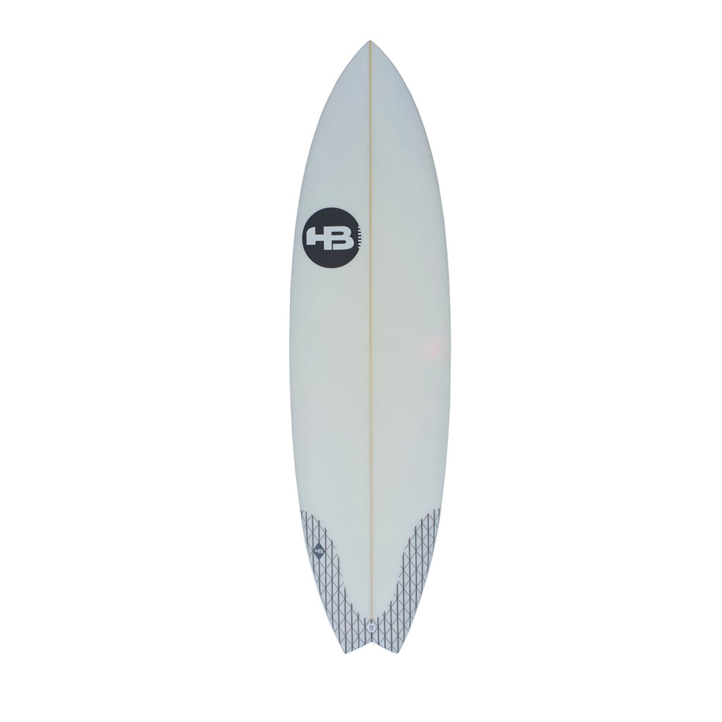 "Hot Buttered Slam Fish PU Clear Surfboards Hot Buttered 6'2"" x 20 1/2"" x 2 1/2"" 34.79L FCSII"