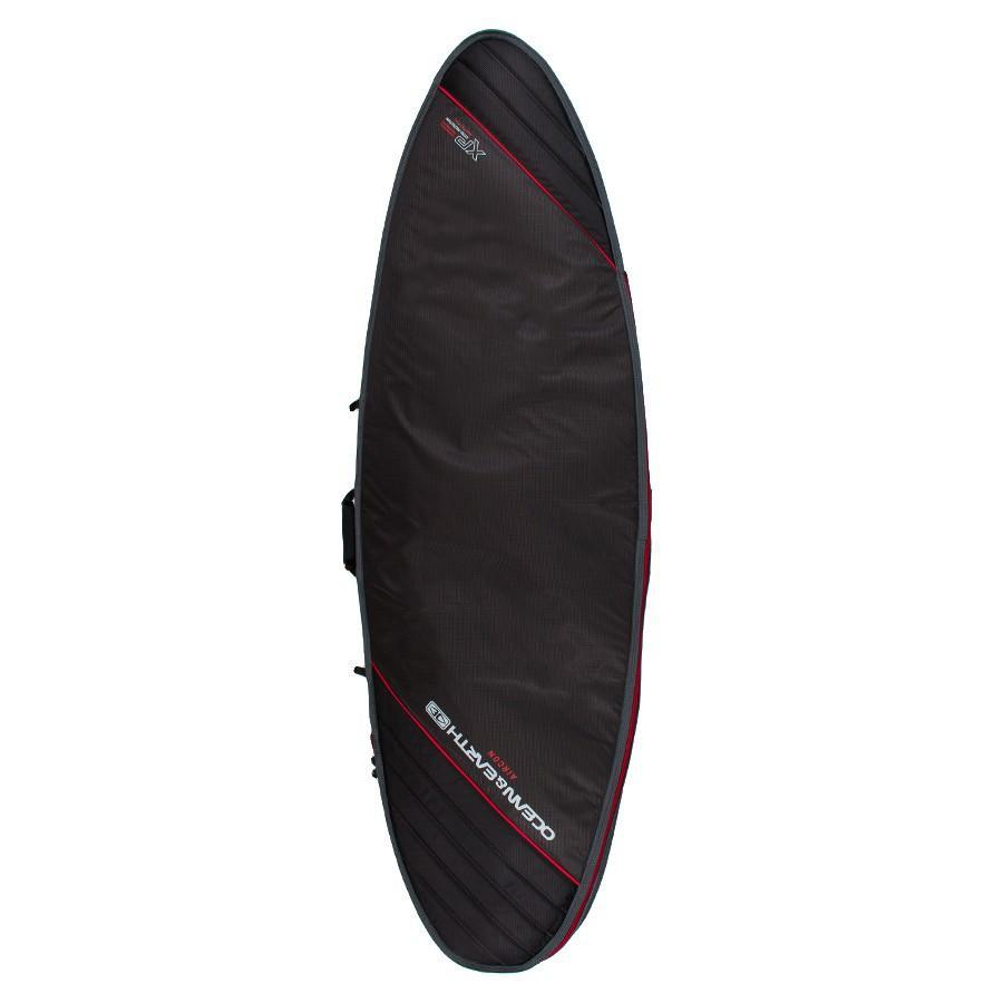 Ocean & Earth Aircon Fish Cover Boardbags Ocean & Earth Black/Red 5'8""
