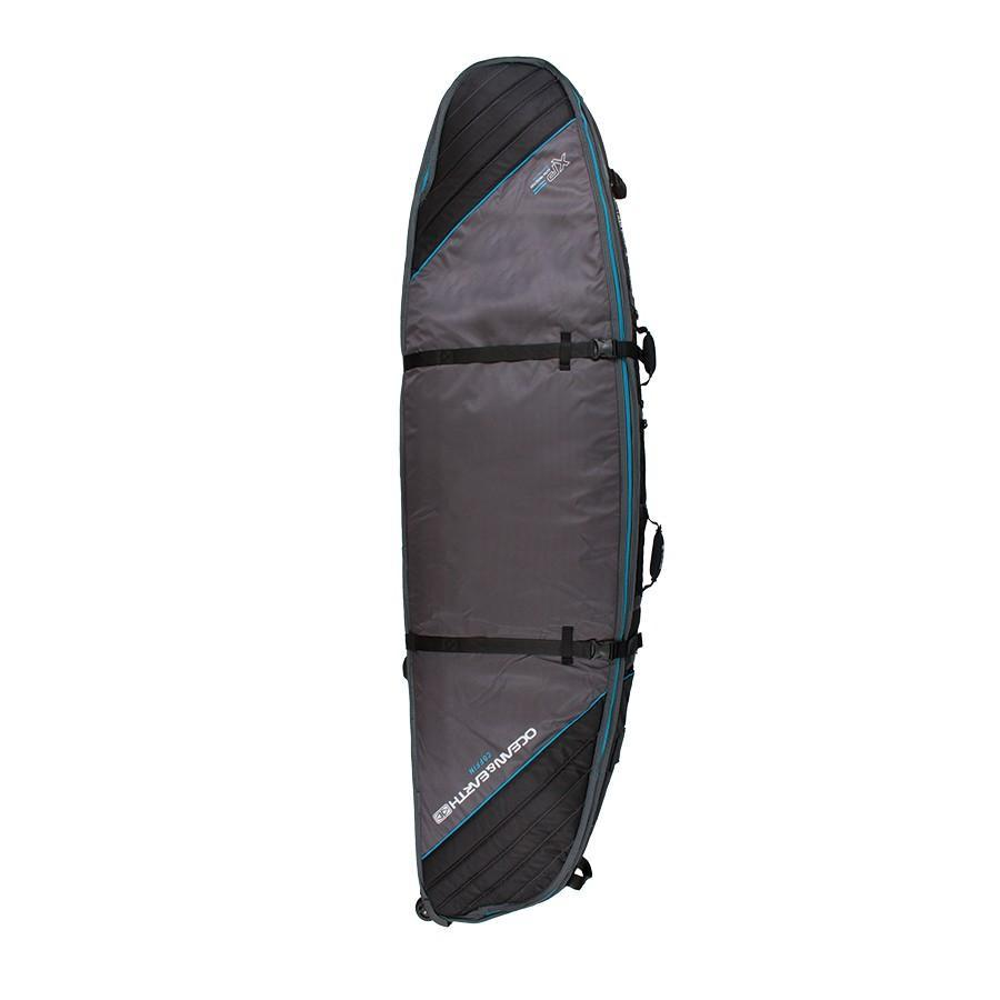 Ocean & Earth Triple Wheel Short/Fish Cover Boardbags Ocean & Earth Black/Blue 6'6""