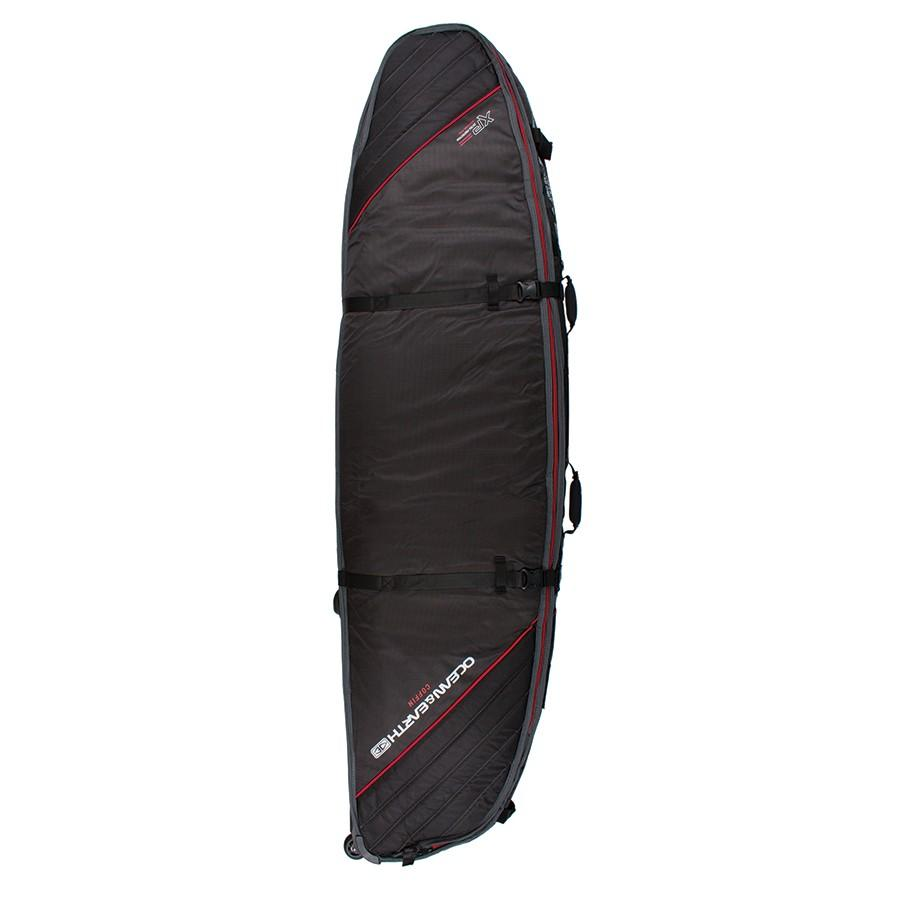 Ocean & Earth Triple Wheel Short/Fish Cover Boardbags Ocean & Earth Black/Red 6'0""