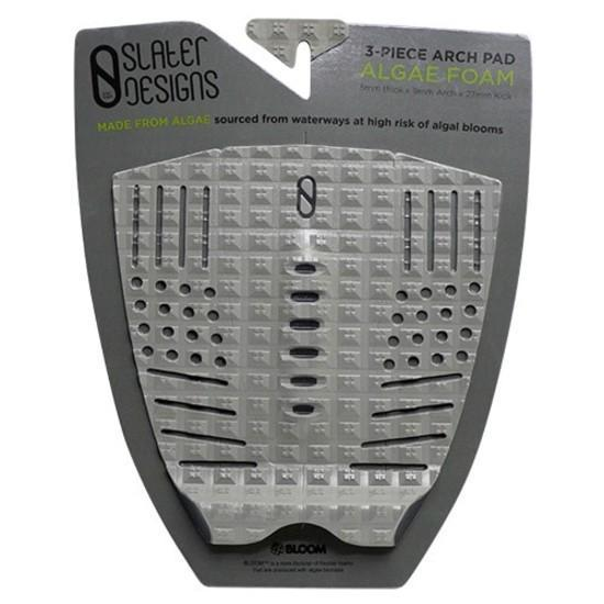 Slater Designs 3 Piece Arch Traction Pad Surfboard Tailpads Slater Designs Grey/Black