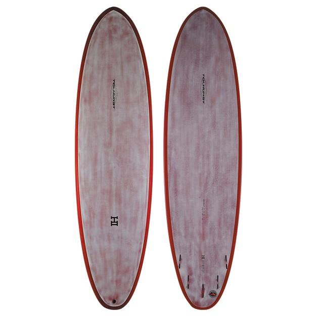 "Thunderbolt Harley Ingleby Moe Surfboards Thunderbolt 7'2"" x 22"" x 2 13/16"" 49.4L Red Xeon - Red Tint"