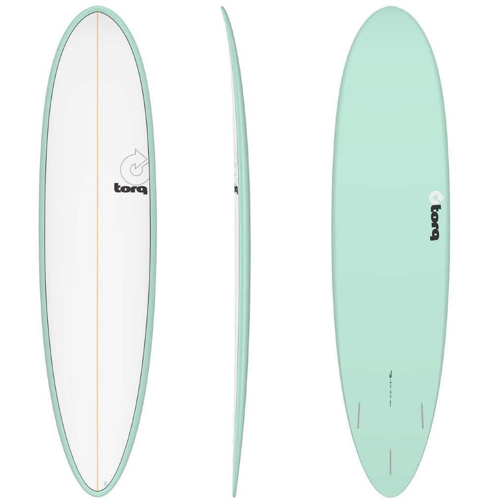 Torq Mod Fun 7'6 Surfboards Torq Sea Green + Pinline