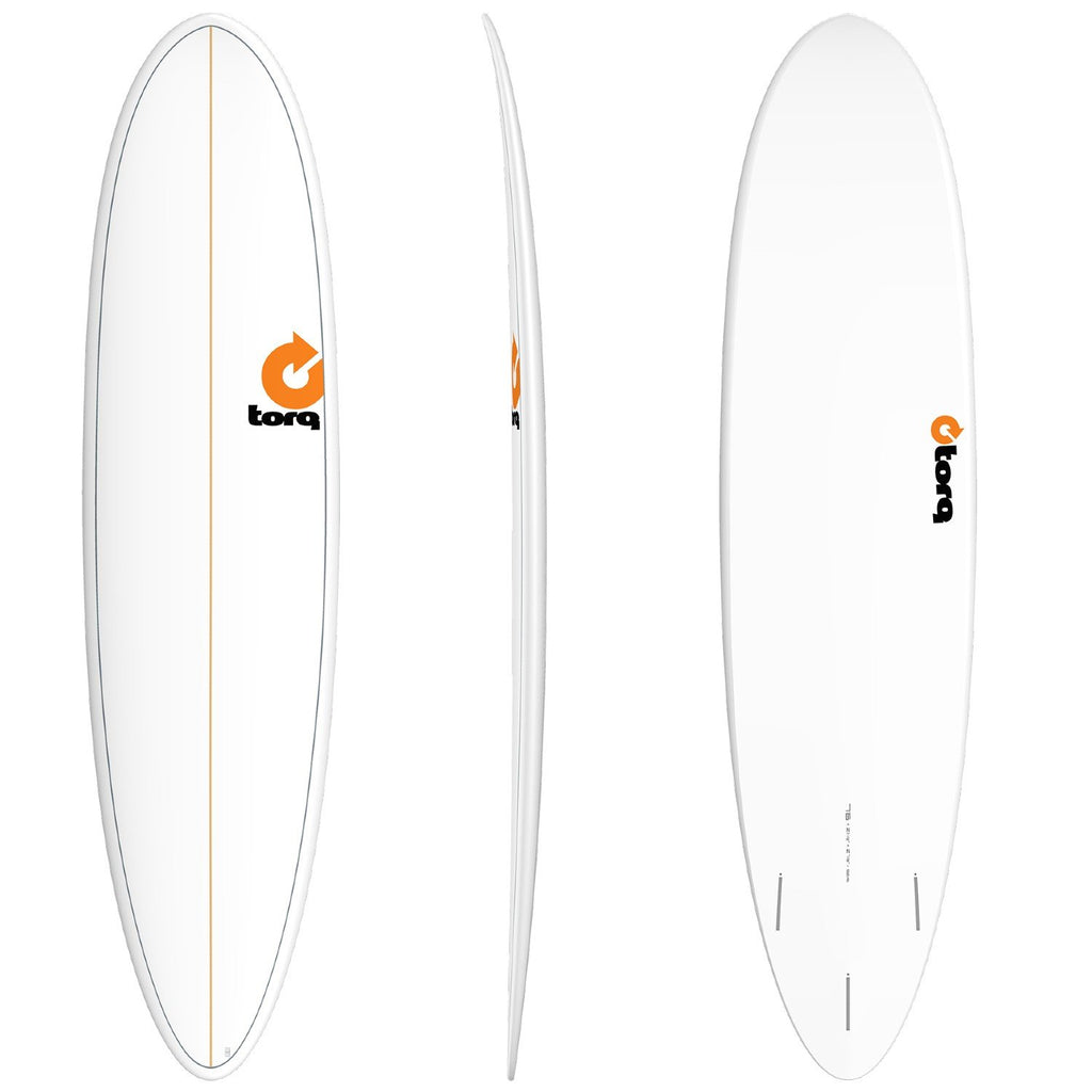 Torq Mod Fun 7'6 Surfboards Torq White + Pinline