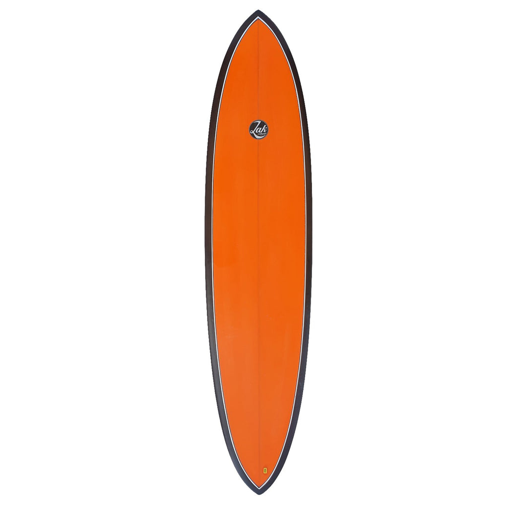 "Zak x Doug Rogers Coloured Round Tail Surfboards Zak Surfboards 7'8"" x 22"" x 2 3/4"" FCSII Red/Black"