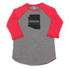 home. Men's Unisex Raglan - Arizona
