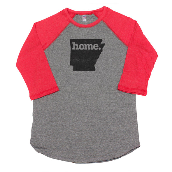 home. Men's Unisex Raglan - Arkansas
