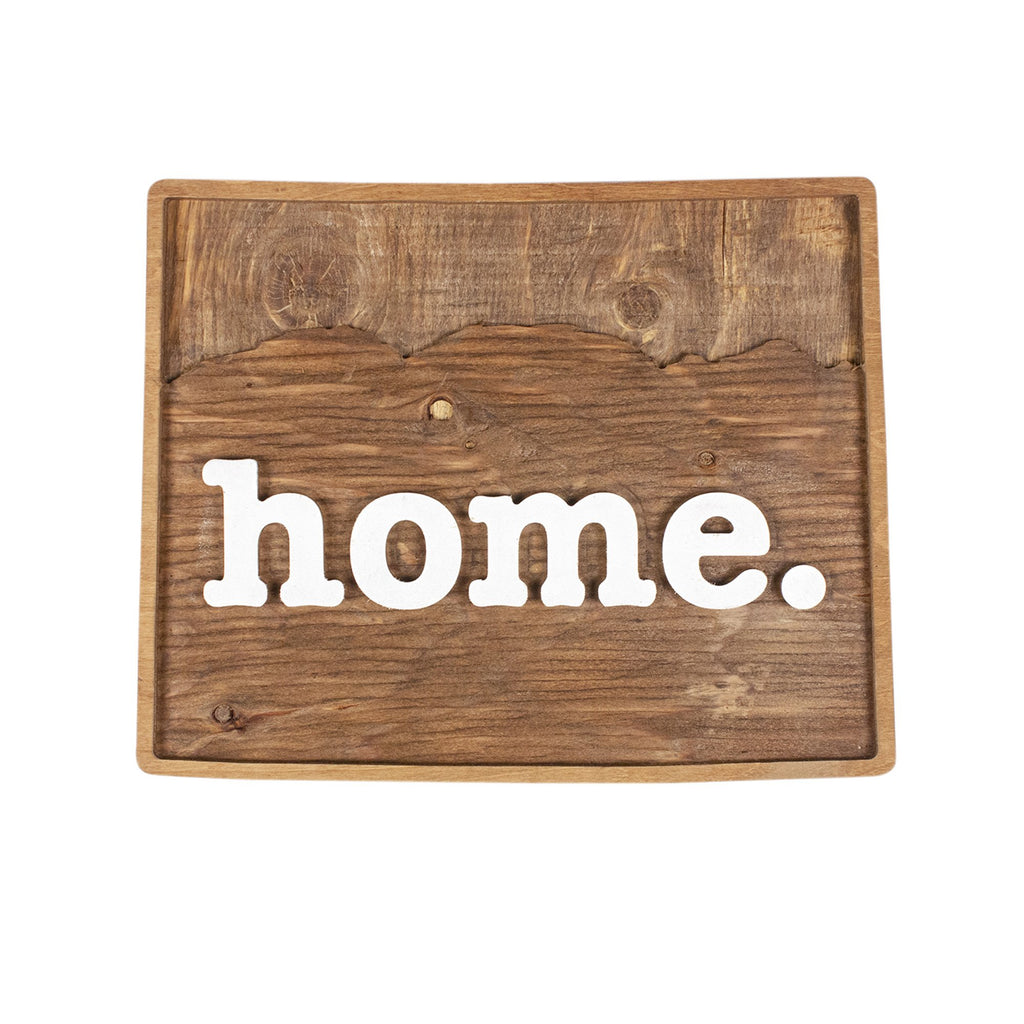 home. Wooden Plaques - Colorado