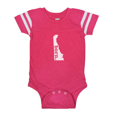 born. Football Baby Bodysuit - Delaware