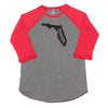 home. Men's Unisex Raglan - Florida