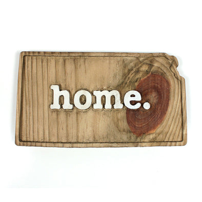 home. Wooden Plaques - Kansas