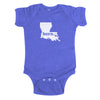 born. Baby Bodysuit - Louisiana
