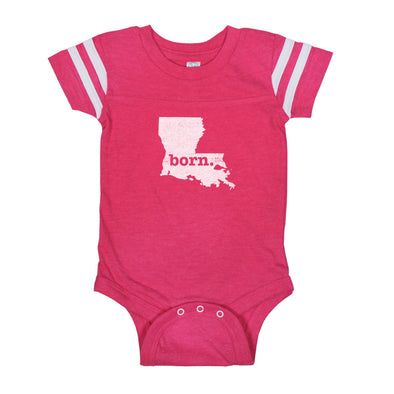 born. Football Baby Bodysuit - Louisiana