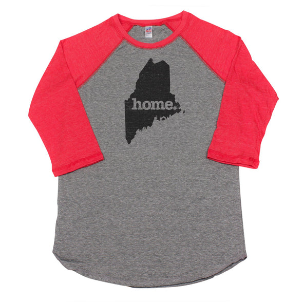 home. Men's Unisex Raglan - Maine