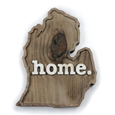 home. Wooden Plaques - Michigan
