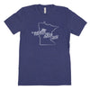 Nickname Freehand Men's Unisex T-Shirt - Minnesota