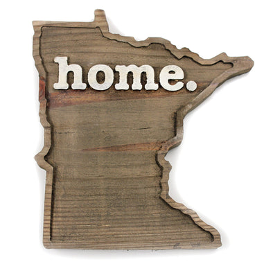 home. Wooden Plaques - Minnesota