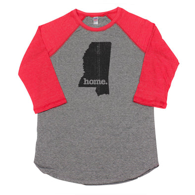 home. Men's Unisex Raglan - Mississippi