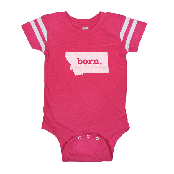 born. Football Baby Bodysuit - Montana