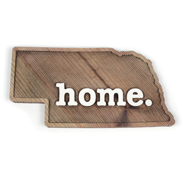 home. Wooden Plaques - Nebraska