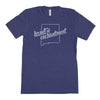 Nickname Freehand Men's Unisex T-Shirt - New Mexico