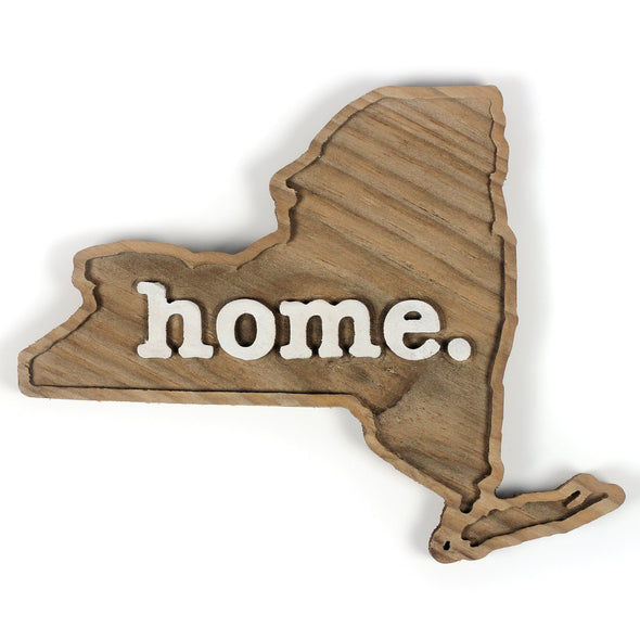 home. Wooden Plaques - New York