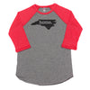 home. Men's Unisex Raglan - North Carolina
