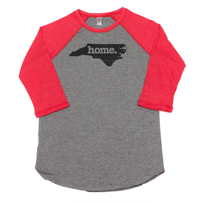 home. Men's Unisex Raglan - North Carolina - Ready to Ship