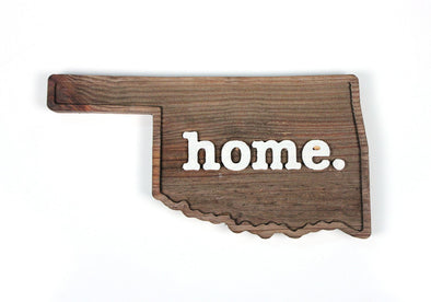 home. Wooden Plaques - Oklahoma
