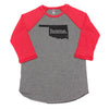 home. Men's Unisex Raglan - Oklahoma