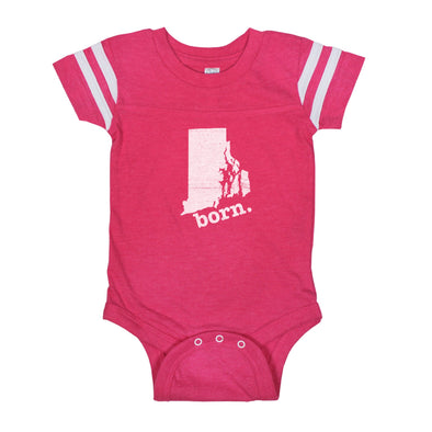 born. Football Baby Bodysuit - Rhode Island