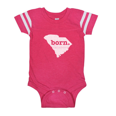 born. Football Baby Bodysuit - South Carolina