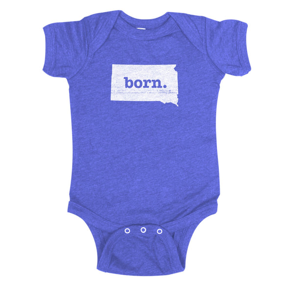 born. Baby Bodysuit - South Dakota