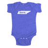 born. Baby Bodysuit - Tennessee
